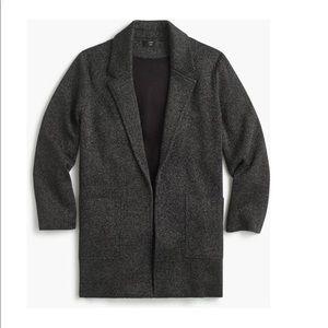 J crew open wool sweater cardigan sophie grey